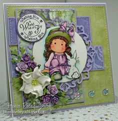 Tilda & her bunny, Butterfly wishes collection, Magnolia stamps
