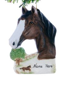 Arabian horse Christmas ornament  personalized arabian ornament