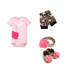 Infant glamour girl look with BabyLegs Loveable Leopard legwarmers.