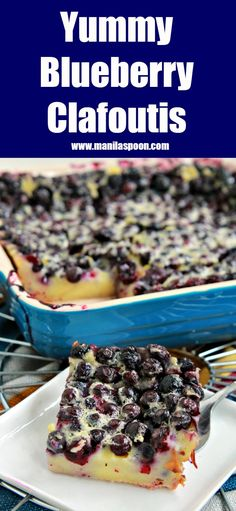 So easy -- simply dump the blueberries in the pan, cover in vanilla custard or flan batter then bake! This French berry dessert - Clafoutis is the perfect vehicle for your favorite summer fruit!