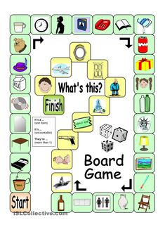Board game - whatâ`s this? its a english language ingles English Games, English Activities, Education English, Teaching English, English Lessons, Learn English, Speaking Games, Printable Board Games, Printable Worksheets