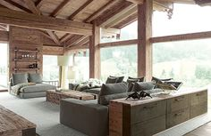Contemporary Chalet With Rustic Atmosphere rustic contemporary interior design
