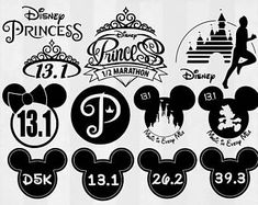 Mickey Mouse and Minnie Mouse swimmer SVG Dxf Png Eps ...