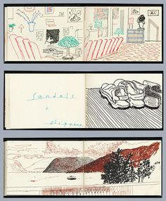 Credit: David Hockney Sketchbook