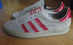 Adidas AS700 in Onyx/Poppy Red, rare made in the Yugoslavia factory