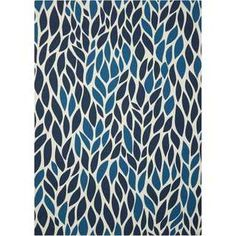 Shop for Nourison Home and Garden Blue Indoor/ Outdoor Area Rug (5'3 x 7'5). Get free shipping at Overstock.com - Your Online Home Decor Outlet Store! Get 5% in rewards with Club O! - 18861041