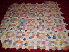 1930s Friendship Garden quilt Hand pieced by, Shelia A. Taylor A work in progress.