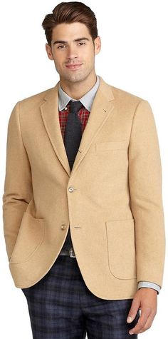 9c278154a Brooks Brothers Cambridge Camel Hair Patch Pocket Jacket Mens Sport Coat,  Modern Outfits, Chic