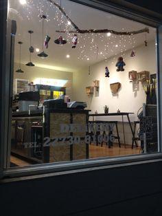 Vitrine decoration for coffee shop!!! Plaisir coffees Pythagoreio