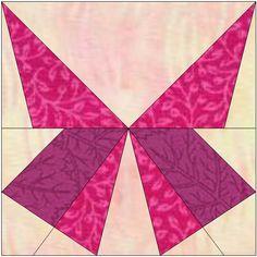 Patchwork en Casa - Patchwork with Love: Bloque de la Semana: Mariposa en Paper Piecing