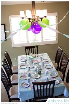 Princess and the Frog Party Table Set up