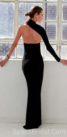 a67b985016c Unique Design One Shoulder Black Mermaid Sexy Newest Formal Elegant Simple  Cheap Prom Dresses,PD1190