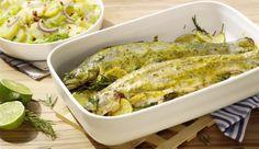 Auf die Marinade kommt es an! Du möchtest gern eine saftige Marinade mit Pfiff? Dann bestreue die Forellen mit einer Kräuter-Sahne Sauche und lege Rosmarin und Limetten obendrauf und ab in den Backofen – mmmh lecker!