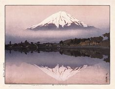 Yamanaka Lake by Hiroshi Yoshida, 1929