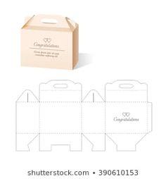 Box Template : images, photos et images vectorielles de stock Cardboard Box Crafts, Paper Crafts Origami, Diy Paper, Paper Gifts, Paper Art, Diy Gift Box, Diy Box, Diy Gifts, Gift Boxes