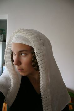 Andrea Håkansson - Recreating History - A starched, frilled veil made for my mother