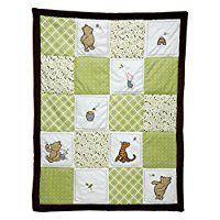 Amazon.com : Disney Baby My Friend Pooh 4 Piece Nursery Crib Bedding Set, Green, Brown, White : Classic Winnie The Pooh Bedding : Baby