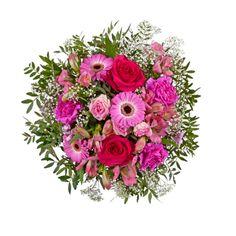 """Pflanzen-Kölle Blumenstrauß """"Du bist wundervoll"""". """"Du bist wundervoll"""" in herzlichen Pinktönen sorgt für ein herzerwärmendes Strahlen im Gesicht des Beschenkten."""