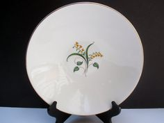 Knowles China Accent Shape Forsythia Pattern  by MarieWarrenArts