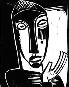 Woodcut, 50 x cm, Galerie Henze & Ketterer. This print was banned by the Nazi regime and exhibited at the Degenerate art exhibition in Munich in Muse Kunst, Linocut Prints, Art Prints, Karl Schmidt Rottluff, George Grosz, Lino Art, Degenerate Art, Bloodborne Art, Muse Art