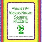 This puzzle will help your students practice their short A vowel words. The puzzles contains twelve short vowel pictures with words to match. Short Vowel Activities, Phonics Activities, Teaching Reading, Teaching Ideas, Common Core Language Arts, Magic Squares, Short Vowels, Phonemic Awareness, Word Pictures