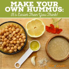 Hummus is one of those amazing foods that is absolutely delicious and extremely versatile, not to mention extremely easy to make at home. Get our recipe: http://gmoinside.org/easy-homemade-hummus-recipe #Food #NonGMO #Hummus