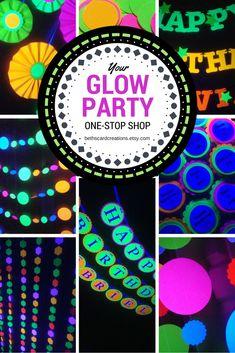 Glow party decor https://www.etsy.com/shop/BethsCardCreations?ref=seller-platform-mcnav&section_id=22824647