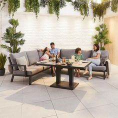 The Nova - Vogue Aluminium Corner Sofa Dining Set with Rising Table is a modern corner dining set with a practical twist. Garden Dining Set, Garden Table And Chairs, Garden Sofa, Outdoor Dining Chairs, Garden Furniture, Outdoor Living, Outdoor Furniture Sets, Outdoor Decor, Corner Sofa Dining Set