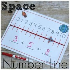 Space Number Line for Hands on Addition