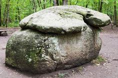 big shapsugskiy dolmen - monument of prehistoric architecture in caucasus mountains, Russia photo