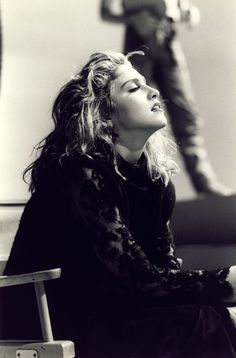 "MADONNA ON ""MATERIAL GIRL"" VIDEO-SET"