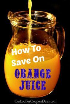 How to Save on Orange Juice