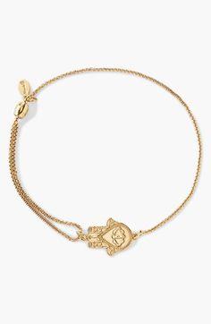 Women's Alex and Ani 'Providence - Hand of Fatima' Pull Chain Bracelet - Gold Alex And Ani Bracelets, Metal Bracelets, Dainty Jewelry, I Love Jewelry, Cute Little Things, Girly Things, Hand Of Fatima, Pull Chain, Hamsa Hand