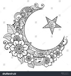 Bible Coloring Pages, Cute Coloring Pages, Coloring Books, Flower Mandala, Mandala Art, Eid Crafts, Free Adult Coloring, Floral Banners, Small Girl Tattoos