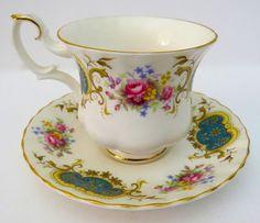 """Royal Albert """"Berkeley"""" Tea Cup and Saucer Bone China England  #RoyalAlbert"""