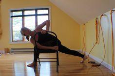86 best iyengar yoga chair standing poses images  iyengar