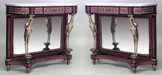 French Louis XVI table console table mahogany