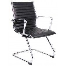 Bari #Cantilever #LeatherOfficeChair, Price: £131.25 Price in reward points: 131.25       Luxury Chrome arms with Matching Chrome Base      Available in Black or White Leather       Lumber Support - helps reduce pain in lower back while keeping upper back and shoulders supported       Dimensions:      Overall Height: 870mm      Overall Depth: 575mm      Overall Width: 560mm
