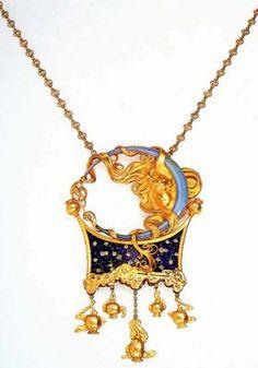 Золото, резной опал, эмаль, розовые бриллианты Фонд Нойманна