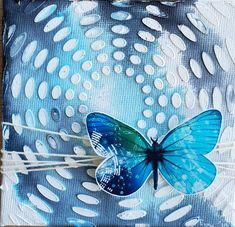 #mixedmedia #handmade #canvas #anjapeter #butterfly #inspired by #maremismallart 👍