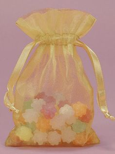 12 Organza bags 7.5x11 inch in Gold large organza by PartySurprise