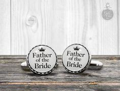 Wedding Cufflinks  Father of the Bride   by GothChicAccessories, $21.00