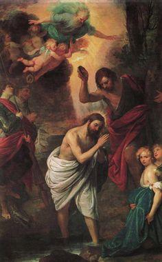 Giovanni Andrea de Ferrari, El bautismo de Cristo, del siglo 17