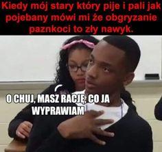 Very Funny Memes, True Memes, Wtf Funny, Funny Cute, Funny Jokes, Polish Memes, Weekend Humor, Funny Mems, Creepypasta