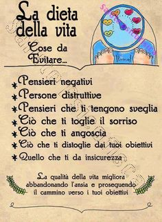 La dieta della vita - Via Olistic Map sacrosante parole Italian Quotes, French Quotes, Positive Attitude, Positive Vibes, Positive Motivation, Motivational Quotes, Inspirational Quotes, Quote Citation, Magic Words