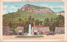 Chimney Rock Mountain Entrance North by postcardsofthepast on Etsy