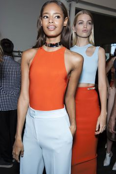Backstage Pass: Paris Fashion Week Spring 2015 - Malaika Firth backstage at Mugler Spring 2015