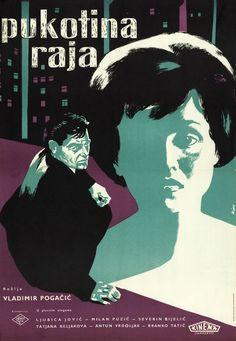 "Plakat za film Vladimira Pogačića ""Pukotina raja"", 1959."