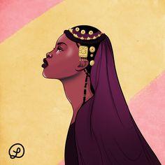 Songhai Woman - by Lou lflf.format.com