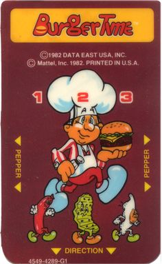 Intelevision burger time game card insert that I was telling you about.